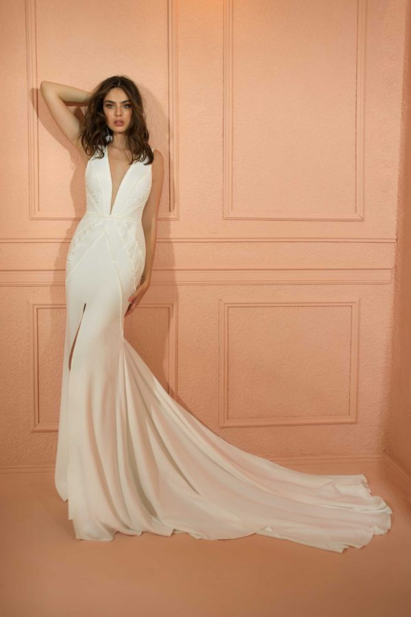 RISH Bridal northern star wedding gown at Love and Lace Bridal salon in Irvine, CA