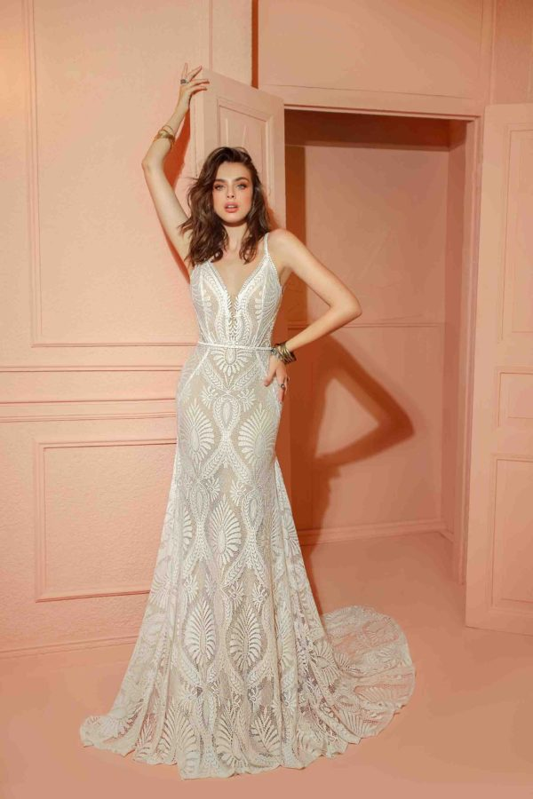 RISH Bridal Pandora wedding gown at Love and Lace Bridal salon in Irvine, CA